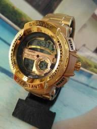 Relógio esportivo digital masculino data cronômetro