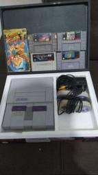 Super Nintendo na caixa estado de novo .*leia a descrição*
