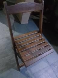Cadeiras novas dobrável imbuia