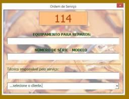 Ordem de Serviço - Excel - Sistema
