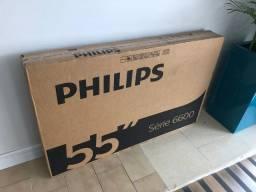 Smart Tv 55' Philips Nova na Caixa Lacrada com Nota Divide em 10x no cartão