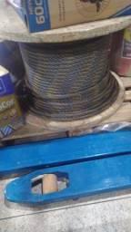 """Cabo de aço galvanizado, alma de fibra, 19,1 mm - 3/4"""", 6 x 25, vonder"""