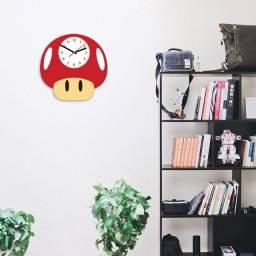 Relógio Cogumelo de parede