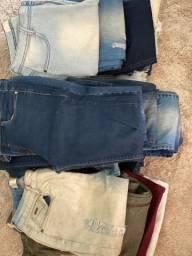 Calças jeans Lança Perfume, Zara,Bershka