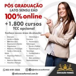 Pós graduação EAD Online a partir de R$ 79 mensais - Não deixe essa chance passar!