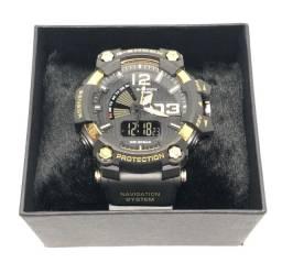 Relógio Casio G-shock GA-700 Com Pulseira e Caixa Dourada e Preta Garantia Produto Novo