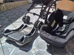 Carrinho + Bebê Conforto + Base Para Carro Peg-pérego Pliko P3