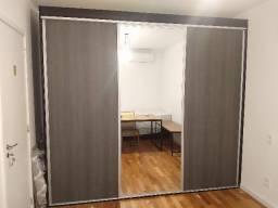 Guarda-roupa Casal 3 Portas Correr 1 Espelho