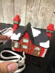Minis casinhas de porcelana de natal