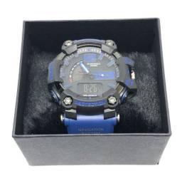 Relógio Casio G-shock GA-700 Com Pulseira Azul e Caixa Preta Com Garantia Produto Novo