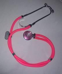 Estetoscópio e Esfigmomanômetro Rosa