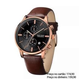 Relógio masculino importado original Megir luxo lindíssimo