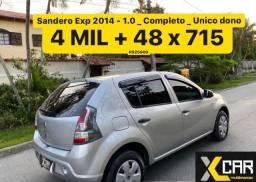 Sandero Exp. 2014 - 1.0 _ Único Dono _ Pouco Rodado _ Completo