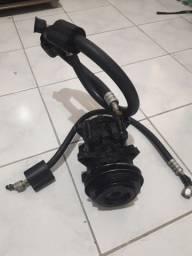 Compressor do Ar Condicionado + mangueira do Opala/ Caravan