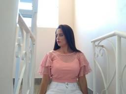 Cropped Rosa - Loja @LightClosets