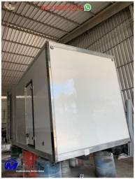 Baú frigorífico seminovo 5,50 paleteiro caminhão 3/4 Mathias implementos