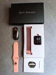 Smartwatch P80pro+ acompanha duas pulseiras