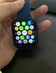 Smartwatch Ak76 - notificações WhatsApp exercícios físicos + pulseira brinde