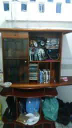 Som, estante, CD, DVD