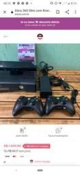 Xbox 360 Kinect e dois controles