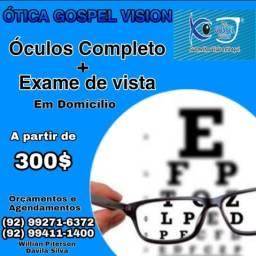 Ótica Gospel Vision Exame de vista em domicílio.