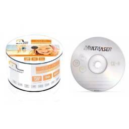 (WhatsApp) cd-r gravavel 80mm multilaser - pacote c/ 50 unid