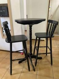 Conjunto mesa bistrô 2 cadeiras