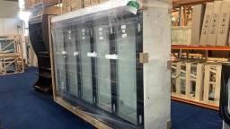 Título do anúncio: Expositor refrigerado 5 portas frente em aço inox refrimate *douglas