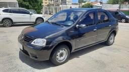 Renault Logan Expression 1.0 2008 Preto Completo, Carro com Garantia, Excelente Estado
