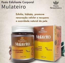 pasta esfoliante corporal mulateiro - vegano - produto do amazônia