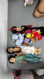 Coleção de pelúcia Disney Aladdin original da Disney