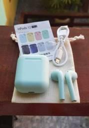 I12 fone de ouvido bluetooth - Azul<br> Fone de ouvido bluetooth i12 Azul ou branco