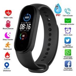 Relogio M5 Bluetooth 4.2 Smartband Monitor Pressão Arterial Smartwatch (venda pela shopee)