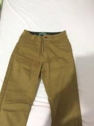 calça jeans caramelo