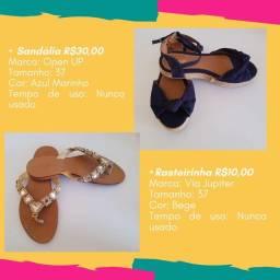 Sandálias femininas em liquidação