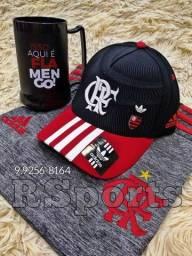 Kit Flamengo camisa boné e caneca