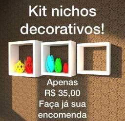 Kit nichos decorativos