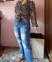 Camisa de amarração zebra
