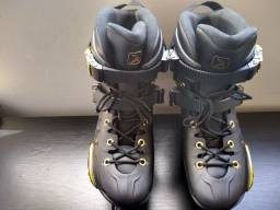 Patins Oxer Darkness Gold - In Line - Freestyle - Base de Alumínio ? Adulto!