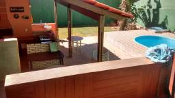 Casa 3 quartos, moderna, piscina aquecida, churrasq, dentro de condomínio. Aceita troca