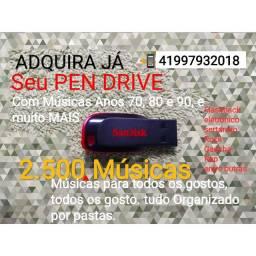 Vendo PEN DRIVE 16GB com 2.500 Músicas Gravadas SanDisk 2.0