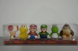 Coleção de bonecos Mario
