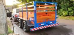 Título do anúncio: AM ' Reboque Carrocinha 1 e 2 eixos entregamos em toda Manaus