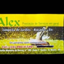 Limpeza de jardim e corte de grama e roçada serviço de qualidade preço a combinar