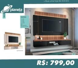 painel para televisão com iluminação em promoção