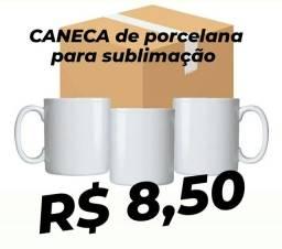 CANECA de porcelana para sublimação R$ 8,50