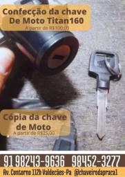CONFECÇÃO E CÓPIA DE CHAVE DE MOTO HONDA E OUTROS MODELOS.