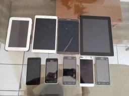 Ipad e celulares para reparo ou retirada de peças