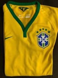 Título do anúncio: Camiseta Manga Curta Seleção Brasileira 2014 - M