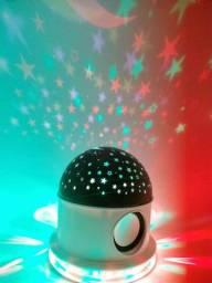 Abajur Céu Estrelado com Bluetooth! ?: